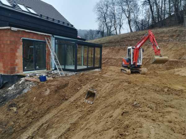 IMG 20190301 152313 600x450 - Wola Justowska Kraków –realizacja niwelacji terenu - koparka kraków