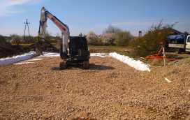 DSC 0640 272x172 - Roboty ziemne dla drugiego etapu osiedla domów. - koparka kraków
