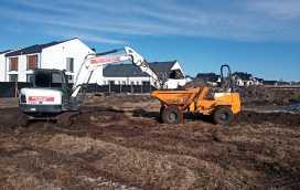IMG 20210322 083130 1 272x172 - Roboty ziemne dla drugiego etapu osiedla domów. - koparka kraków